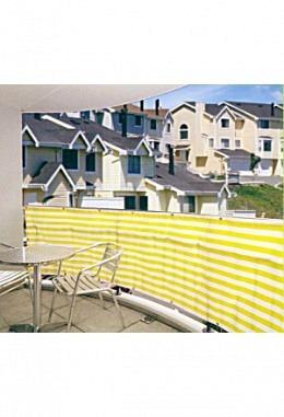 Balkonbespannung 90cm x500cm komplett mit Befestigungsmaterial 957620200