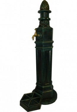 Standbrunnen schwarz/grün 957602613 aus Aluminium Spezial lackiert Modell Luzern