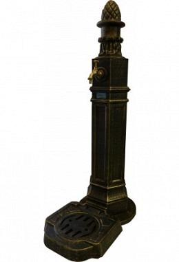Standbrunnen schwarz/grün 957602615 aus Aluminium Spezial lackiert Modell München